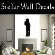 Western Cowboy NS011 Vinyl Decal Wall Art Sticker Mural SWD