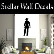 Western Cowboy NS017 Vinyl Decal Wall Art Sticker Mural SWD