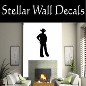 Western Cowboy NS019 Vinyl Decal Wall Art Sticker Mural SWD