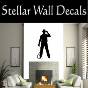 Western Cowboy NS025 Vinyl Decal Wall Art Sticker Mural SWD
