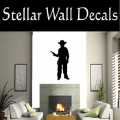 Western Cowboy NS028 Vinyl Decal Wall Art Sticker Mural SWD