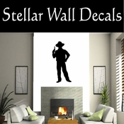 Western Cowboy NS030 Vinyl Decal Wall Art Sticker Mural SWD