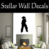 Western Cowboy NS033 Vinyl Decal Wall Art Sticker Mural SWD
