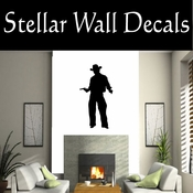 Western Cowboy NS040 Vinyl Decal Wall Art Sticker Mural SWD