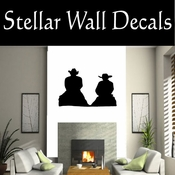 Western Cowboy NS041 Vinyl Decal Wall Art Sticker Mural SWD