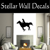 Western Cowboy NS043 Vinyl Decal Wall Art Sticker Mural SWD