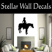 Western Cowboy NS046 Vinyl Decal Wall Art Sticker Mural SWD