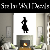 Western Cowgirl NS001 Vinyl Decal Wall Art Sticker Mural SWD