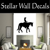 Western Cowgirl NS002 Vinyl Decal Wall Art Sticker Mural SWD