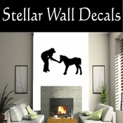 Western Cowgirl NS003 Vinyl Decal Wall Art Sticker Mural SWD