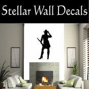 Western Cowgirl NS004 Vinyl Decal Wall Art Sticker Mural SWD