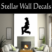 Western Cowgirl NS005 Vinyl Decal Wall Art Sticker Mural SWD