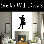 Western Cowgirl NS008 Vinyl Decal Wall Art Sticker Mural SWD
