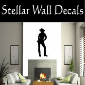 Western Cowgirl NS009 Vinyl Decal Wall Art Sticker Mural SWD