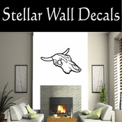 Western Cow Skull NS002 Vinyl Decal Wall Art Sticker Mural SWD
