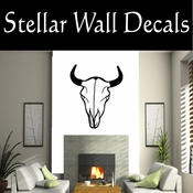 Western Cow Skull NS003 Vinyl Decal Wall Art Sticker Mural SWD