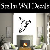 Western Cow Skull NS006 Vinyl Decal Wall Art Sticker Mural SWD