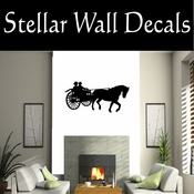 Western Driving Horse NS001 Vinyl Decal Wall Art Sticker Mural SWD
