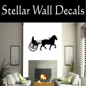 Western Driving Horse NS002 Vinyl Decal Wall Art Sticker Mural SWD