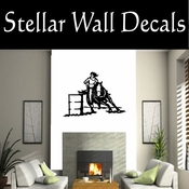 Barrel Racer NS001 Vinyl Decal Wall Art Sticker Mural SWD
