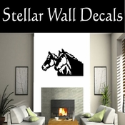 Western Horses NS018 Vinyl Decal Wall Art Sticker Mural SWD