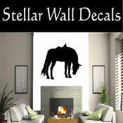 Western Horses Saddled NS002 Vinyl Decal Wall Art Sticker Mural SWD