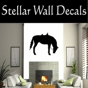 Western Horses Saddled NS003 Vinyl Decal Wall Art Sticker Mural SWD