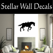 Western Horses Saddled NS004 Vinyl Decal Wall Art Sticker Mural SWD