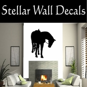Western Horses Saddled NS005 Vinyl Decal Wall Art Sticker Mural SWD