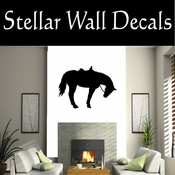 Western Horses Saddled NS006 Vinyl Decal Wall Art Sticker Mural SWD