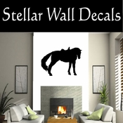 Western Horses Saddled NS007 Vinyl Decal Wall Art Sticker Mural SWD