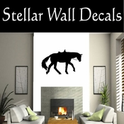 Western Horses Saddled NS008 Vinyl Decal Wall Art Sticker Mural SWD