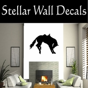 Western Horses Saddled NS010 Vinyl Decal Wall Art Sticker Mural SWD