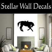 Western Horses Saddled NS011 Vinyl Decal Wall Art Sticker Mural SWD