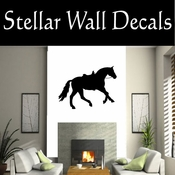 Western Horses Saddled NS012 Vinyl Decal Wall Art Sticker Mural SWD