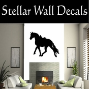 Western Horses Saddled NS013 Vinyl Decal Wall Art Sticker Mural SWD