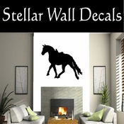 Western Horses Saddled NS014 Vinyl Decal Wall Art Sticker Mural SWD