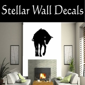 Western Horses Saddled NS015 Vinyl Decal Wall Art Sticker Mural SWD
