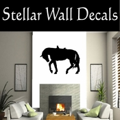 Western Horses Saddled NS016 Vinyl Decal Wall Art Sticker Mural SWD
