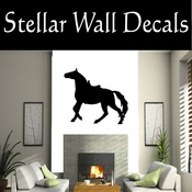 Western Horses Saddled NS017 Vinyl Decal Wall Art Sticker Mural SWD
