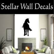 Western Horses Saddled NS018 Vinyl Decal Wall Art Sticker Mural SWD