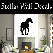 Western Horses Saddled NS019 Vinyl Decal Wall Art Sticker Mural SWD