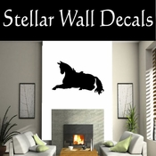 Western Horses Saddled NS020 Vinyl Decal Wall Art Sticker Mural SWD