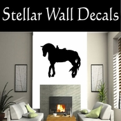 Western Horses Saddled NS021 Vinyl Decal Wall Art Sticker Mural SWD