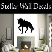 Western Horses Saddled NS022 Vinyl Decal Wall Art Sticker Mural SWD