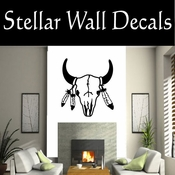 Western Indian Cow Skull NS001 Vinyl Decal Wall Art Sticker Mural SWD