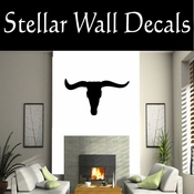 Western Longhorn Skull NS001 Vinyl Decal Wall Art Sticker Mural SWD