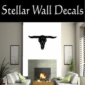 Western Longhorn Skull NS002 Vinyl Decal Wall Art Sticker Mural SWD