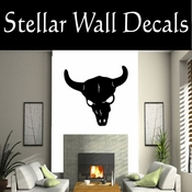 Western Longhorn Skull NS003 Vinyl Decal Wall Art Sticker Mural SWD
