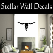 Western Longhorn Skull NS005 Vinyl Decal Wall Art Sticker Mural SWD